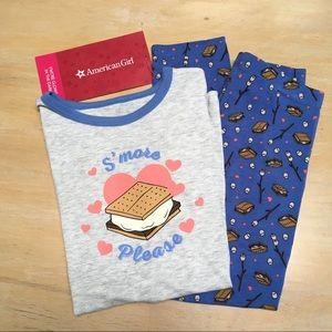 NWT American Girl S'more Fun Pajama Set